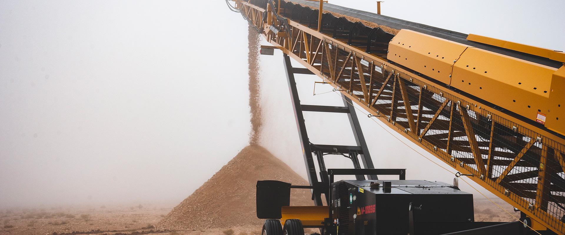 conveyor running for a header image
